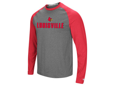 Louisville Cardinals Colosseum NCAA Men's Social Skills Long Sleeve Raglan T-shirt