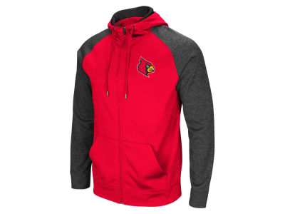 Louisville Cardinals Colosseum NCAA Men's Magic Rays Full Zip Hooded Sweatshirt