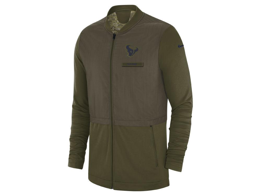 7b317afbc Houston Texans Nike 2018 NFL Men s Salute To Service Elite Hybrid Jacket