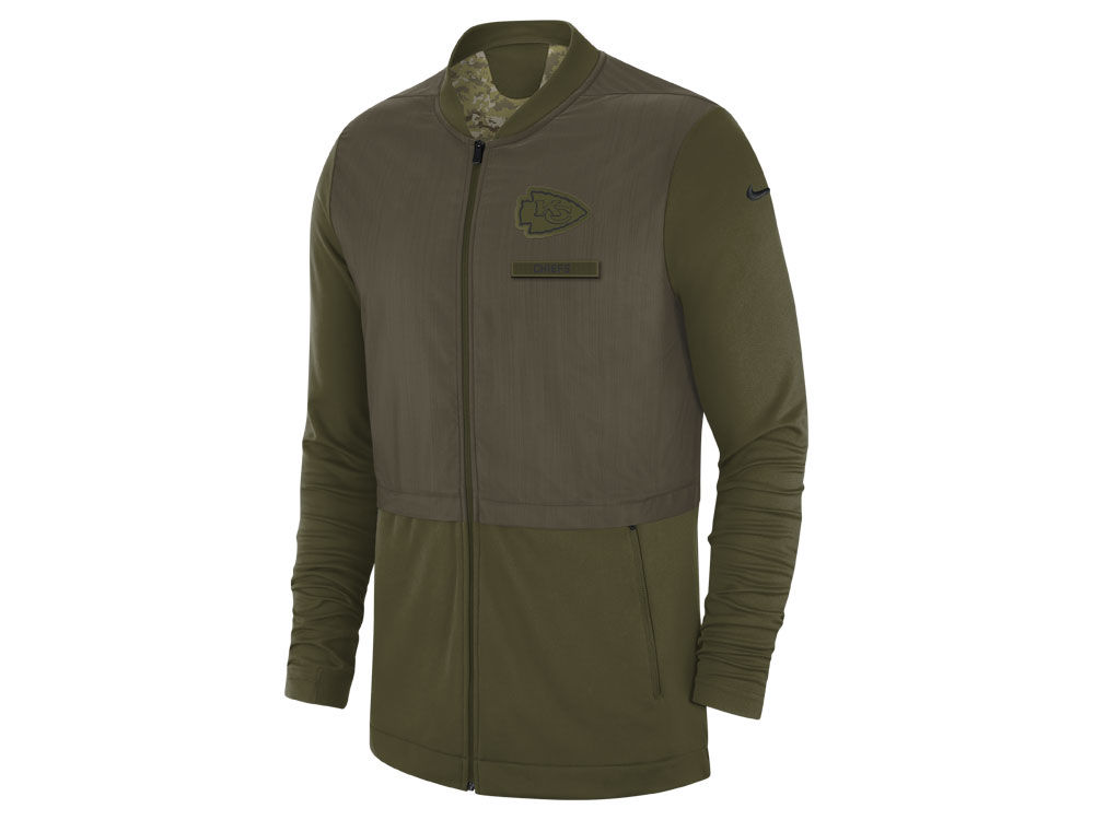 6c5459fb7 Kansas City Chiefs Nike 2018 NFL Men s Salute To Service Elite Hybrid Jacket