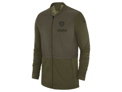 Oakland Raiders Nike 2018 NFL Men's Salute To Service Elite Hybrid Jacket