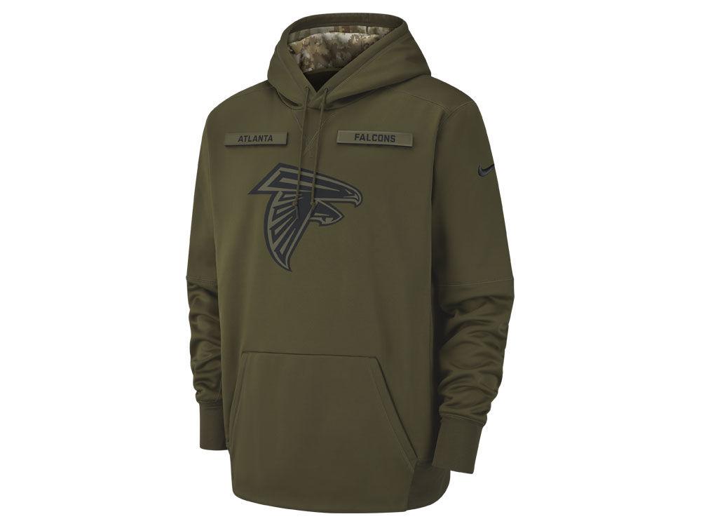 Atlanta Falcons Nike 2018 NFL Men s Salute To Service Therma Hoodie ... 63bbb8e55