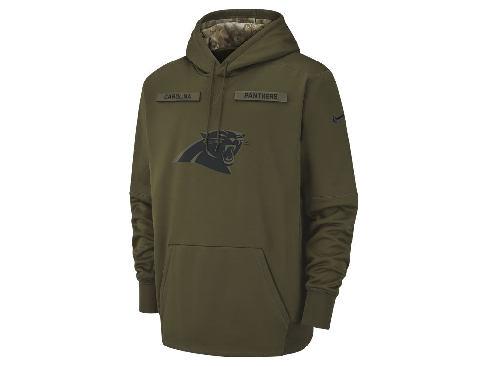 Carolina Panthers Nike 2018 NFL Men s Salute To Service Therma Hoodie  550fa3388