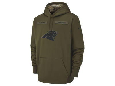 Carolina Panthers Nike 2018 NFL Men's Salute To Service Therma Hoodie