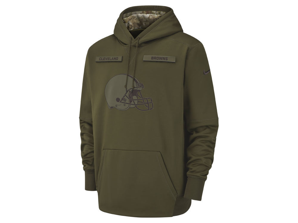 Cleveland Browns Nike 2018 NFL Men s Salute To Service Therma Hoodie ... 88273a4b9