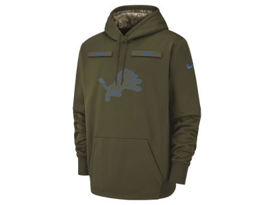 Detroit Lions Nike 2018 NFL Men's Salute To Service Therma Hoodie