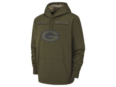 Green Bay Packers Nike 2018 NFL Men's Salute To Service Therma Hoodie