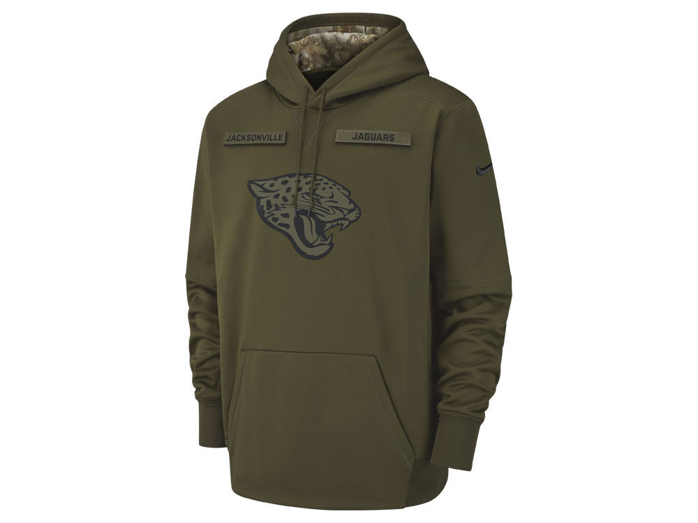 Jacksonville Jaguars Nike 2018 NFL Men s Salute To Service Therma Hoodie  fd6a2a800