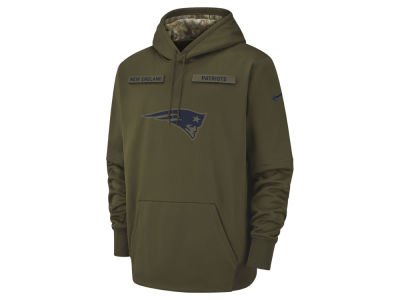 New England Patriots Nike 2018 NFL Men's Salute To Service Therma Hoodie