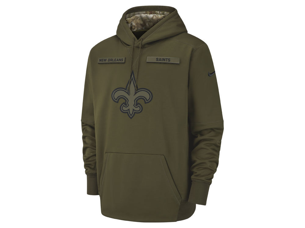 pretty nice 2a4e4 cfc0d hot nfl mens new orleans saints nike olive salute to service ...