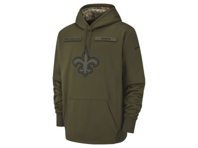 New Orleans Saints Nike 2018 NFL Men's Salute To Service Therma Hoodie
