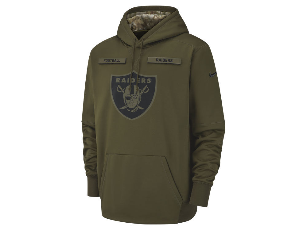 19c02901a Oakland Raiders Nike 2018 NFL Men s Salute To Service Therma Hoodie ...