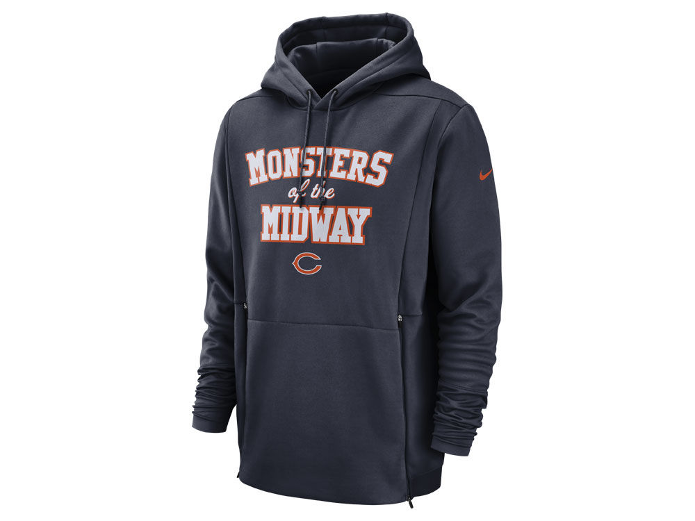 43b50392c Chicago Bears Nike NFL Men s Sideline Player Local Therma Hoodie ...