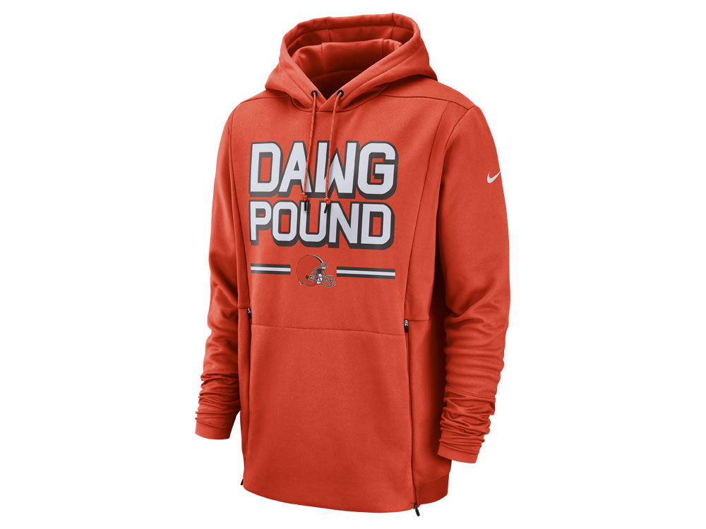 Cleveland Browns Nike NFL Men s Sideline Player Local Therma Hoodie ... 523ca6109