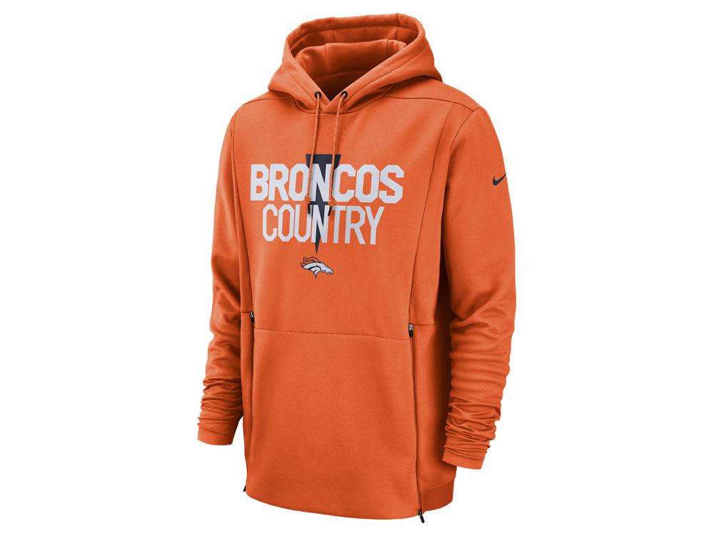 Denver Broncos Nike NFL Men s Sideline Player Local Therma Hoodie ... 8bf12393f