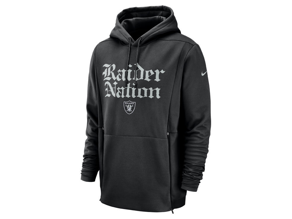 ccf1aadd9 Oakland Raiders Nike NFL Men s Sideline Player Local Therma Hoodie ...