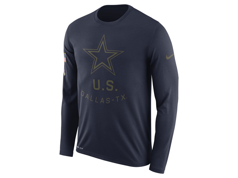 Dallas Cowboys Nike NFL Men s Salute To Service Legend Long Sleeve T-Shirt   e16a0d387