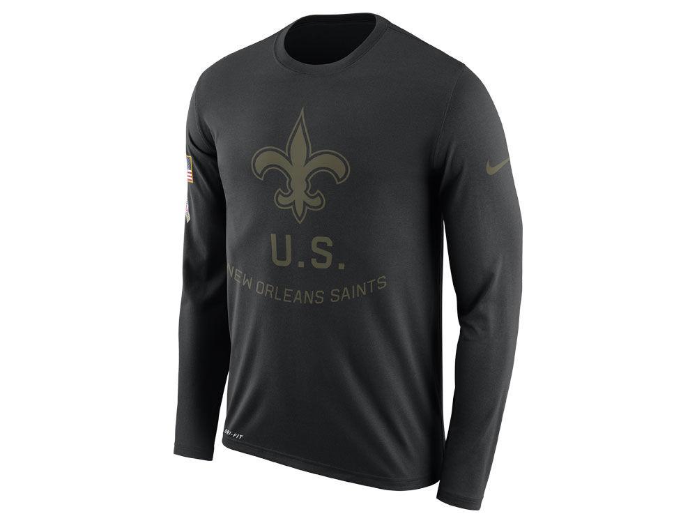 New Orleans Saints Nike NFL Men s Salute To Service Legend Long ... 75832b5ab