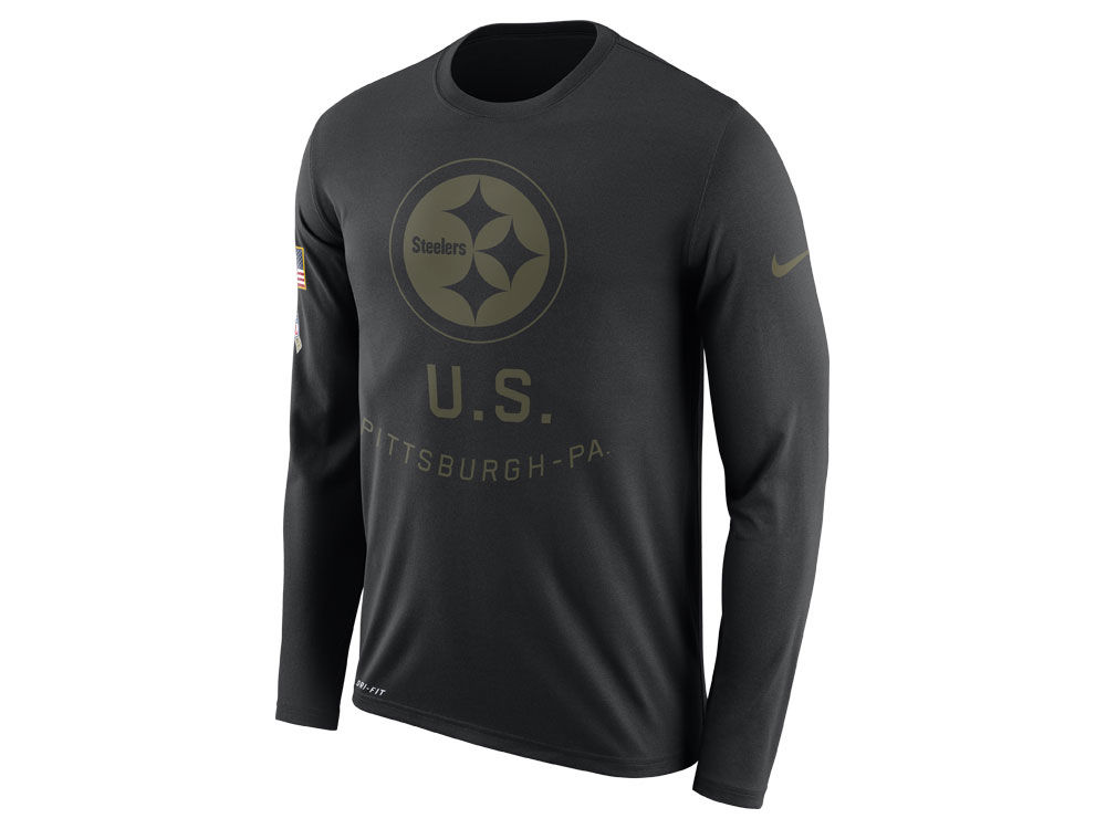 b008a4476 Pittsburgh Steelers Nike NFL Men s Salute To Service Legend Long Sleeve T- Shirt