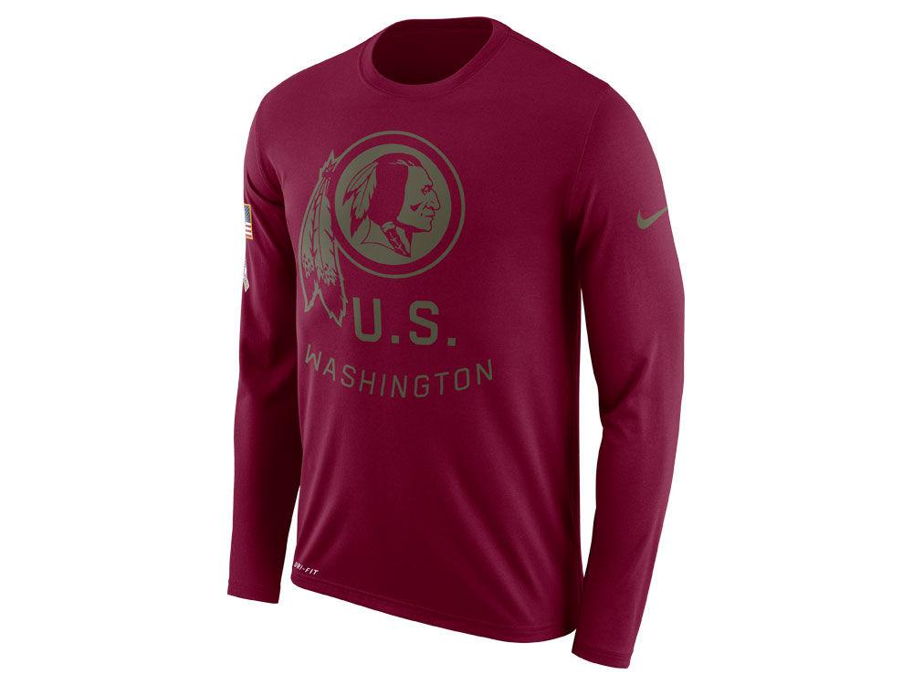 Washington Redskins Nike NFL Men s Salute To Service Legend Long Sleeve T- Shirt  766805213