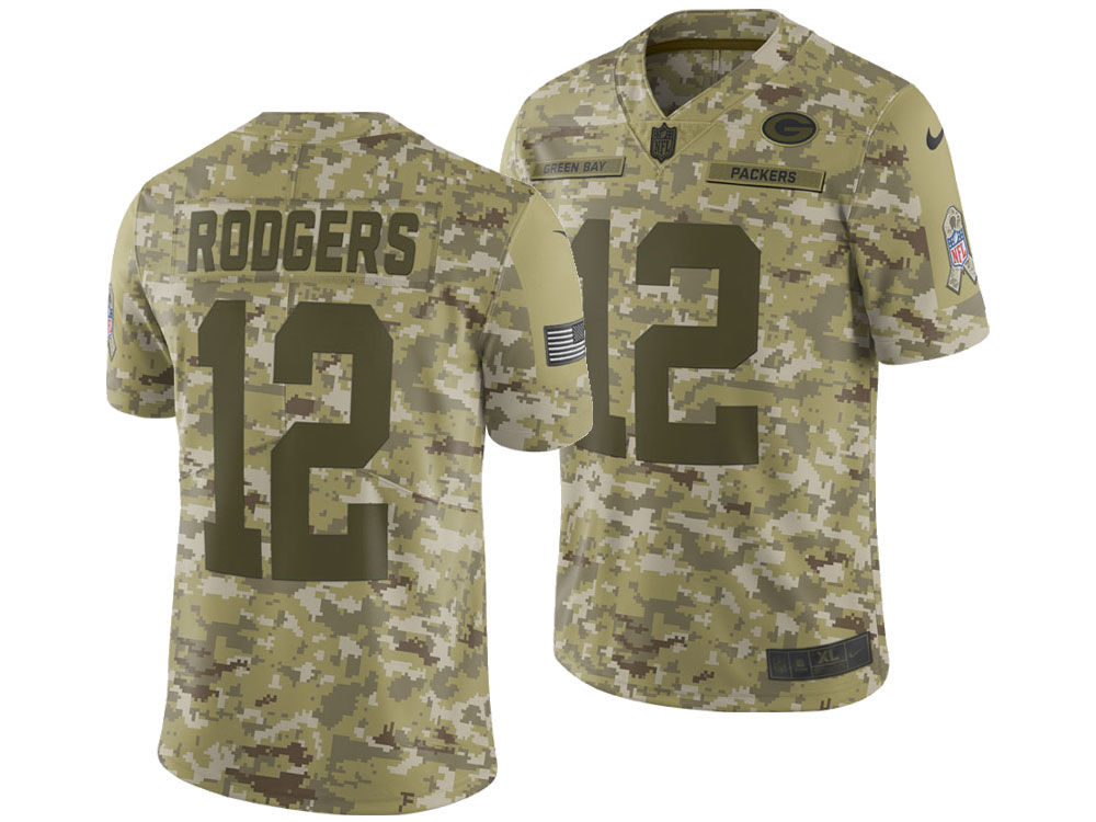 Green Bay Packers Aaron Rodgers Nike 2018 NFL Men s Salute To Service  Jersey  5df6d13e1
