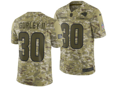 Los Angeles Rams Todd Gurley Nike 2018 NFL Men's Salute To Service Jersey