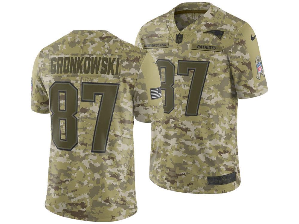 New England Patriots Rob Gronkowski Nike 2018 NFL Men s Salute To Service  Jersey  602e526ef