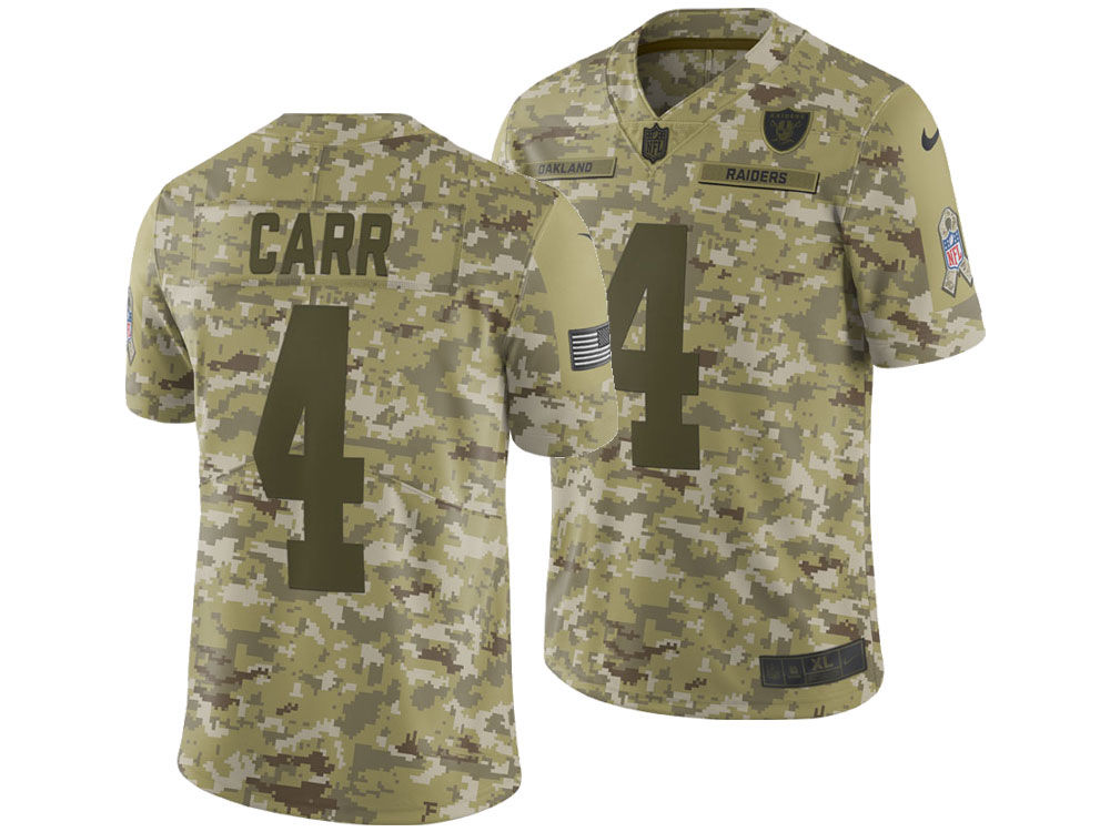 Oakland Raiders Derek Carr Nike 2018 NFL Men s Salute To Service Jersey  50270d644