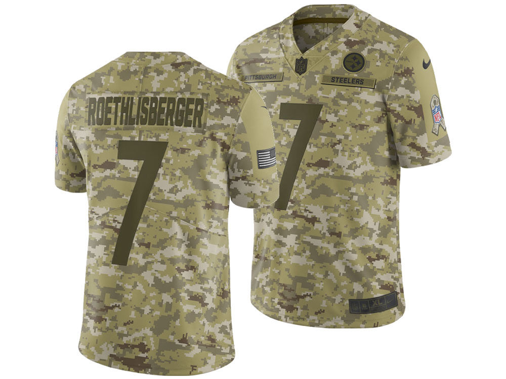 Pittsburgh Steelers Ben Roethlisberger Nike 2018 NFL Men s Salute To Service  Jersey  f15ef9c33