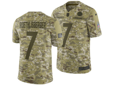 Pittsburgh Steelers Ben Roethlisberger Nike 2018 NFL Men's Salute To Service Jersey
