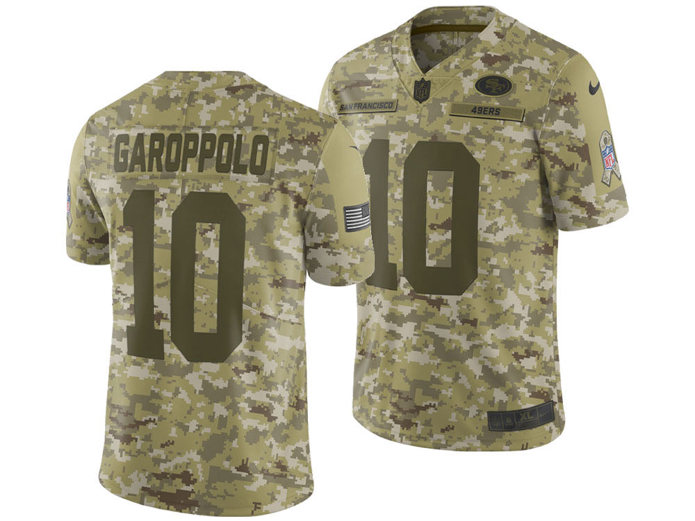 San Francisco 49ers Jimmy Garoppolo Nike 2018 NFL Men s Salute To Service  Jersey  bafaf69cb