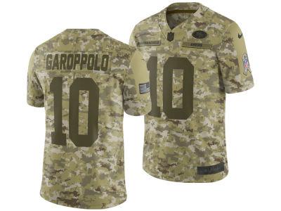 San Francisco 49ers Jimmy Garoppolo Nike 2018 NFL Men s Salute To Service  Jersey bc3187e4a