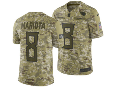 Tennessee Titans Marcus Mariota Nike 2018 NFL Men's Salute To Service Jersey