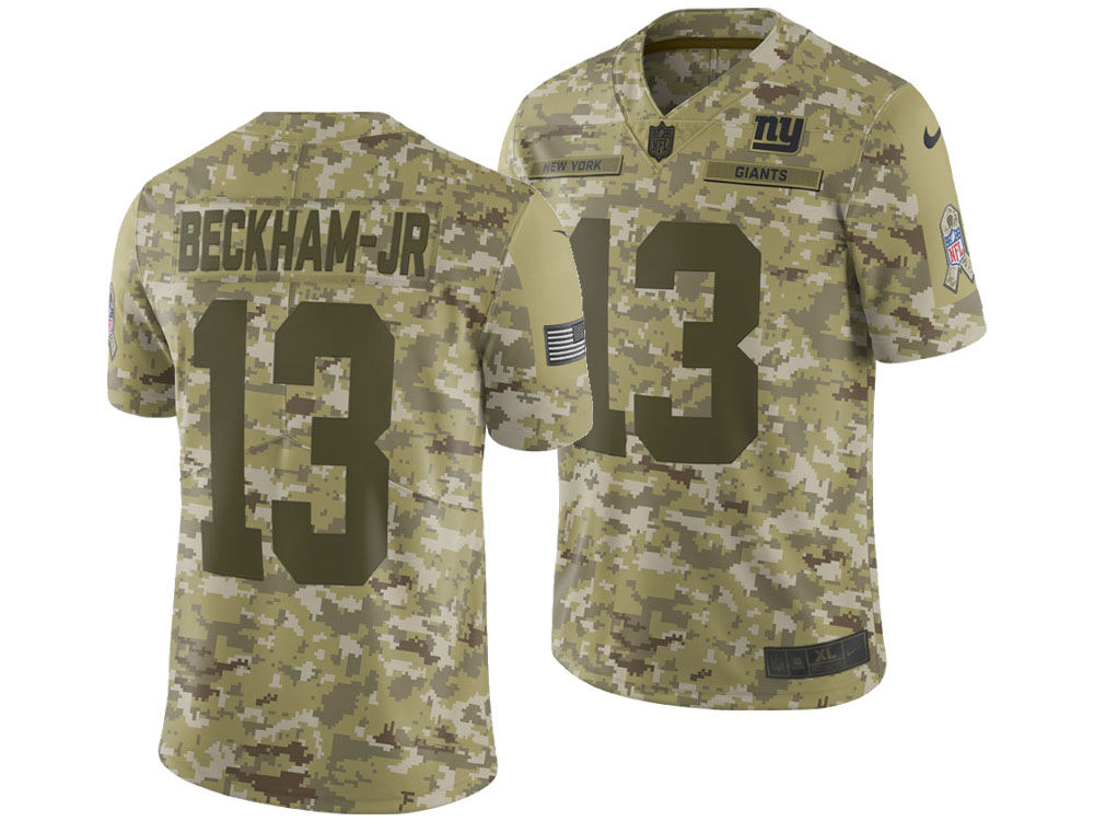 f7bc91d98 New York Giants Odell Beckham Jr. Nike 2018 NFL Men s Salute To Service  Jersey
