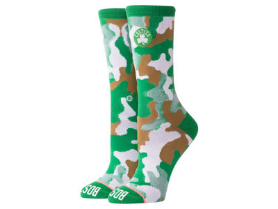 Boston Celtics Stance NBA Women's Camo Crew Socks