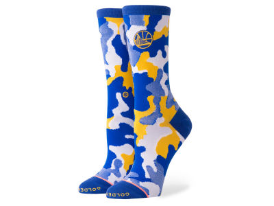 Golden State Warriors Stance NBA Women's Camo Crew Socks