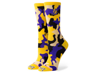 Los Angeles Lakers Stance NBA Women's Camo Crew Socks