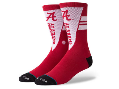 Alabama Crimson Tide Stance NCAA Pennant Crew Sock