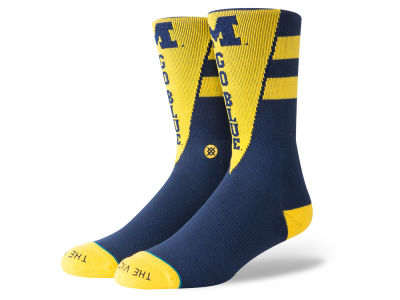 Michigan Wolverines Stance NCAA Pennant Crew Sock