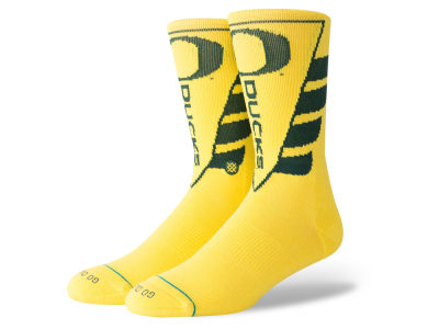 Oregon Ducks Stance NCAA Pennant Crew Sock
