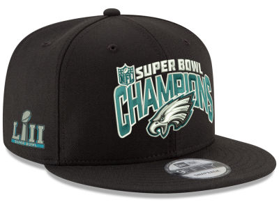 Philadelphia Eagles New Era NFL Super Bowl LII Secondary Champ 9FIFTY Snapback Cap