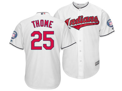 Cleveland Indians Jim Thome Majestic MLB Men's Hall Of Fame Induction Patch Cool Base Jersey