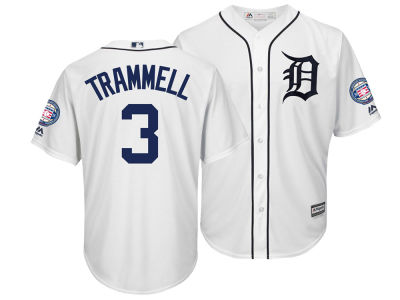 Detroit Tigers Alan Trammell Majestic MLB Men's Hall Of Fame Induction Patch Cool Base Jersey