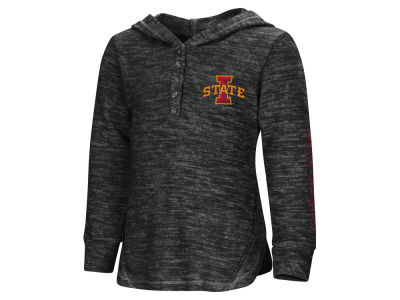 Iowa State Cyclones Colosseum NCAA Toddler Girls Hooded Long Sleeve Henley T-shirt