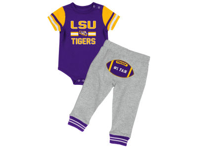 LSU Tigers Colosseum NCAA Newborn Long Run Football Set