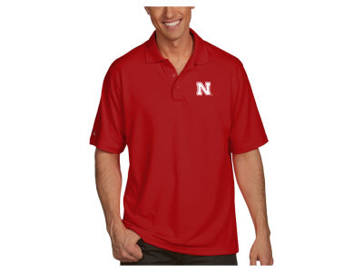 Nebraska Cornhuskers Antigua NCAA Men's Pique Xtra-Lite Polo
