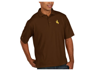 Wyoming Cowboys Antigua NCAA Men's Pique Xtra-Lite Polo