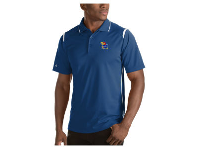 Kansas Jayhawks Antigua NCAA Men's Merit Polo Shirt