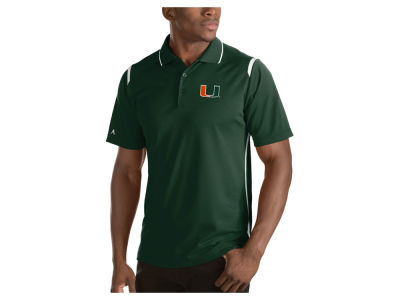 Miami Hurricanes Antigua NCAA Men's Merit Polo Shirt