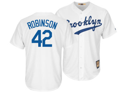 Los Angeles Dodgers Jackie Robinson Majestic MLB Mens Coop Player Replica ES CB Jersey
